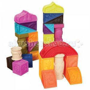 Развивающая игрушка  B.Dot Набор кубиков и других форм Elemnosqueeze Battat