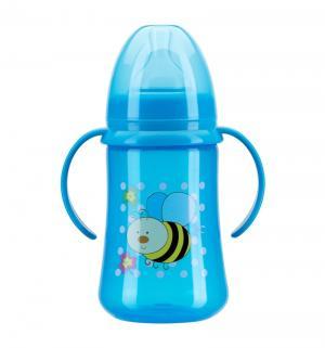 Бутылочка  полипропилен с рождения, 125 мл, цвет: синий Курносики