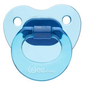 Соска-пустышка Weebaby ортодонтическая CANDY, с рождения, синяя