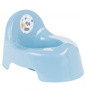 Горшок  Панда, цвет: голубой М-Пластика