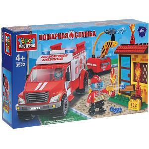 Конструктор  Пожарная служба Пожарный ГАЗ некст, 132 детали Город мастеров. Цвет: разноцветный