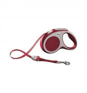 Рулетка VARIO ленточная S, 5м, до 15 кг, цвет: красный Flexi