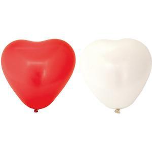 Воздушные шары Action! Сердечки красные и белые, 10 шт