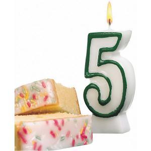 Свеча-цифра для торта  5 8,5 см, синяя Susy Card