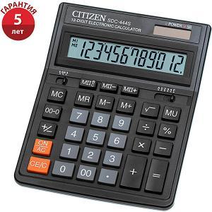 Настольный калькулятор  SDC-444S Citizen. Цвет: черный