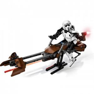 Конструктор  Звездные войны Штурмовик-разведчик на спидере 452 элемента Lego