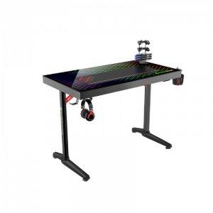 Стол геймерский со сткеклянной столешницей и RGB-подстветкой Explorer edition GTD-I43 Eureka
