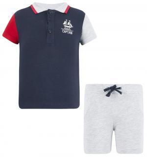 Комплект футболка/шорты , цвет: синий Silversun