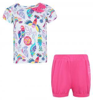 Комплект блузка/шорты , цвет: розовый/белый Umka
