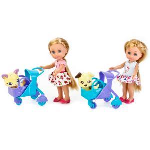 , Кукла Hello Kitty Машенька с питомцем в коляске и аксесс., 15см Карапуз