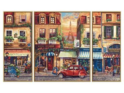 Набор  для раскрашивания, Триптих Париж, 50*80 см Schipper