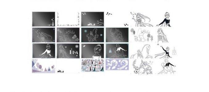 Набор для творчества Альбом граттажа Холодное сердце 2 Totum
