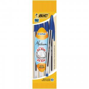 Ручка  Кристал синяя 4 шт. в упаковке BIC