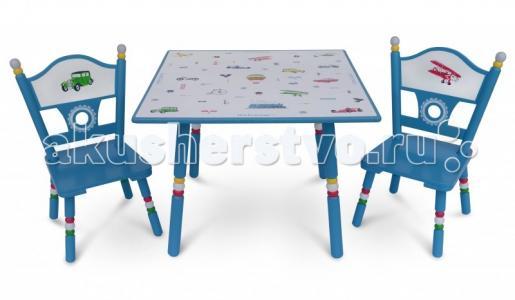 Комплект из стола и двух стульев Транспорт Major-Kids