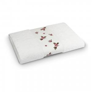 Полотенце махровое 50*90 Розали, , белый Cozy Home