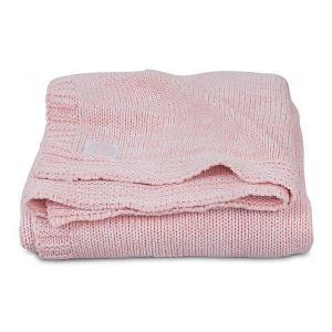 Вязаный плед Jollein Melange knit soft pink, 75х100 см. Цвет: розовый