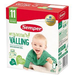 Cухая зерно-молочная смесь  Мультизлаковый Valling, с 11 мес, 435 г Semper