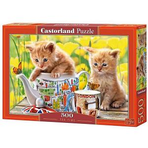 Пазл  Время чаепития - котята 500 деталей Castorland