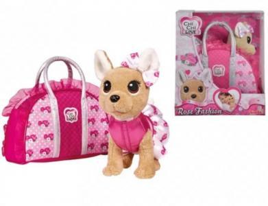 Интерактивная игрушка  Плюшевая собачка Модная с сумочкой, 20 см Chi-Chi Love