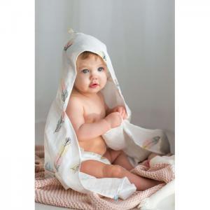 Bath time Простынка с уголком муслиновая 120х70 Перо AmaroBaby