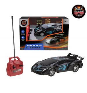 Машинка на радиоуправлении  Ралли Стрит цвет: черный/синий 12 см Пламенный мотор