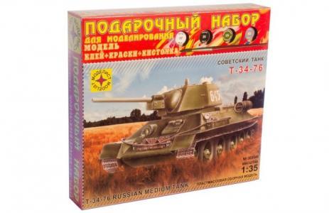Модель Подарочный набор Танк Т-34-76 образец 1942 г. Моделист