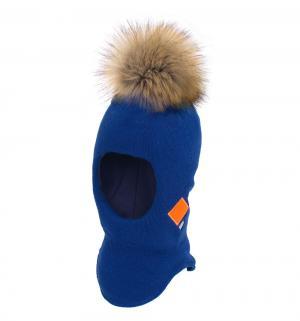 Шапка-шлем , цвет: синий Gusti