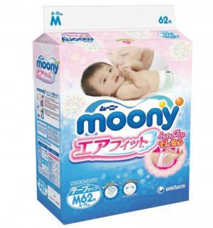 Подгузники  M (6-11 кг) 62 шт. Moony