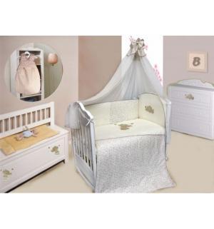 Комплект постельного белья  Милый Слоник 7 предметов, цвет: бежевый Bombus