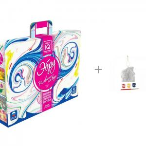 Рисование на воде Эбру и комплект для творчества Ёлочные украшения Домик Деда Мороза Каррас