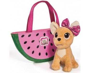 Мягкая игрушка  собачка Фруктовая мода с сумочкой 18 см Chi-Chi Love