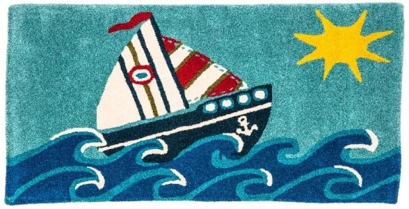 Ковер  с морским рисунком, размер 70х140 Sai Carpets