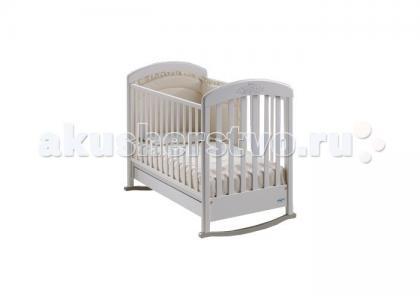 Детская кроватка  Cinzia Lux качалка cо стразами Baby Italia