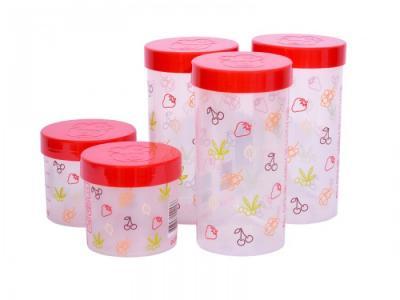 Набор eмкостей для жидких и сыпучих продуктов 5 шт. JA55171 Oursson