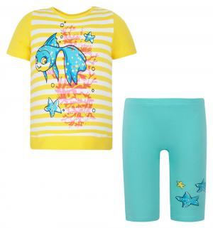 Комплект футболка/брюки , цвет: желтый Pelican