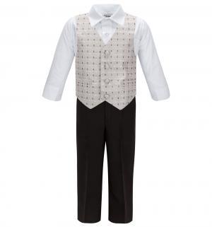 Комплект рубашка/бабочка/жилет/брюки , цвет: серый Rodeng