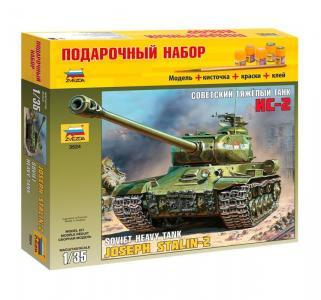Сборная модель  ПН Советский танк Ис-2 Звезда