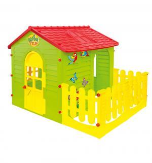 Домик для игр  с пристройкой, цвет:зеленый/красный MochToys
