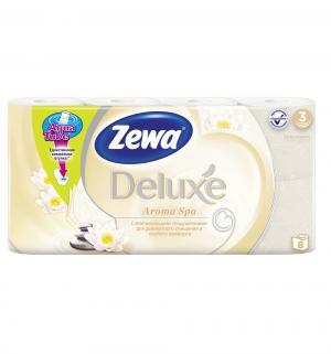 Туалетная бумага 3-х слойная аромаспа  Deluxe, 8 шт Zewa
