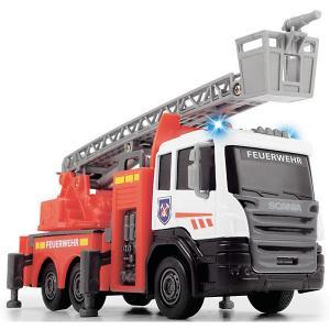Пожарная машинка  Scania Die-cast ,17 см, свет и звук Dickie Toys. Цвет: красный