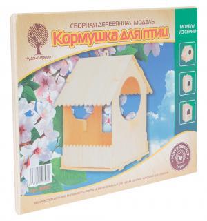Сборная деревянная модель  Кормушка для птиц Wooden Toys