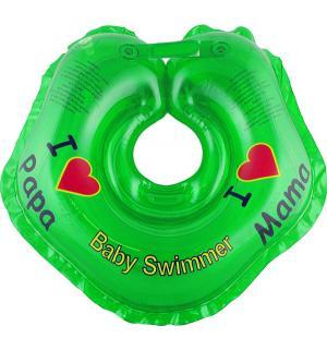 Круг  На шею, цвет: зеленый Baby Swimmer