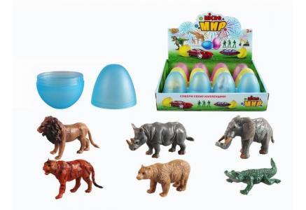 Игровой набор Животные в яйце 12 шт. M0287-1 Yako
