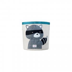 Корзина для хранения Енот (Grey Raccoon), 3 Sprouts. Цвет: серый