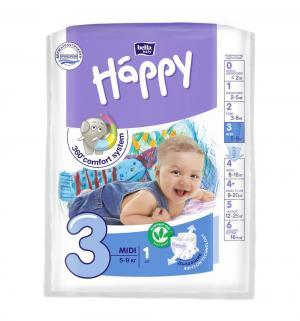 Подгузники  Baby Happy Midi 3 (5-9 кг) 1 шт. Bella