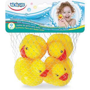 Игрушки для ванной ToysLab Bebelino Уточки-пищалки Toys Lab. Цвет: серый