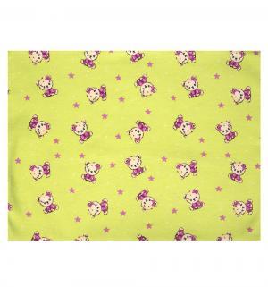Пеленка Мишки 75 х 110 см, цвет: салатовый Зайка Моя