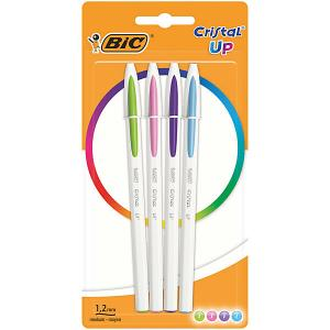 Ручка шариковая  «Cristal Up Fun», 4 цвета BIC. Цвет: разноцветный