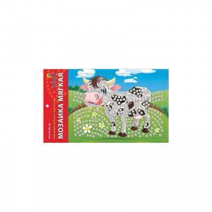 Мягкая мозаика Коровка формат А5 (21х15 см) Издательство Рыжий кот