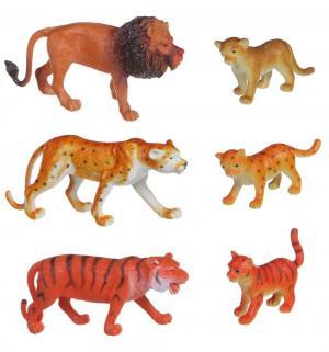 Набор фигурок  Ребятам о зверятах Дикие животные с детенышами Bondibon